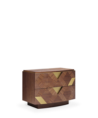 Avalon Gold Bedside Table