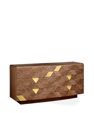 Avalon Gold Double Chest of Drawers